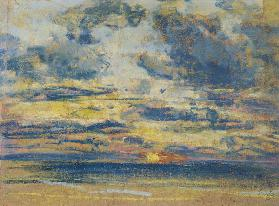 Study of the Sky with Setting Sun c.1862-70