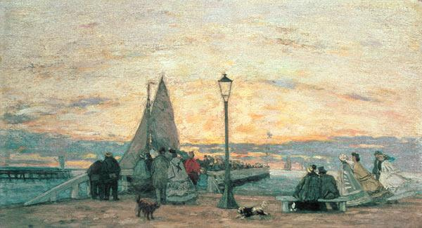 The Jetty at Trouville: Sunset 1864
