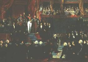 Louis-Philippe (1773-1850) is sworn in as king before the Chamber of Deputies 9th August