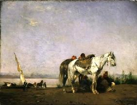 On the bank of the Nile 1871