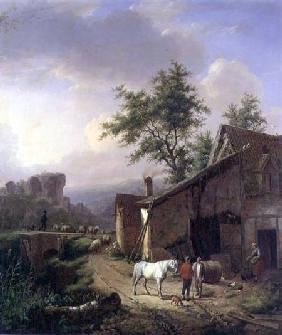 Kunstdruck von Eugène Joseph Verboeckhoven - On the Way Home