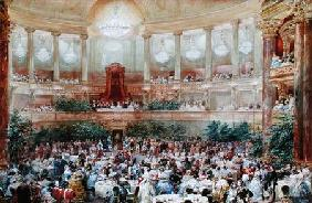 Dinner in the Salle des Spectacles at Versailles 1854  on