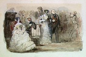 A Reception during the Reign of Louis-Philippe (1830-48) 1832 (pen & ink and w/c on paper)