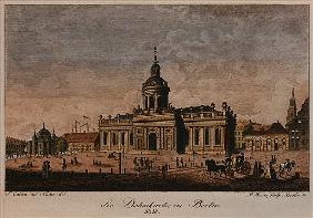 The Cathedral, Berlin (coloured etching)