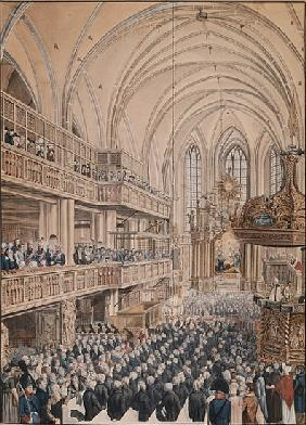 The inauguration of the city councillors in the Church of St. Nicholas