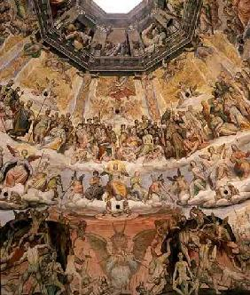 The Last Judgement, detail from the cupola of the Duomo 1572-79