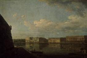 View of the Palace Embankment from St. Peter's and St. Paul's Fortress 1794