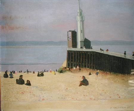 The Jetty at Honfleur - Felix Vallotton als Kunstdruck oder ...