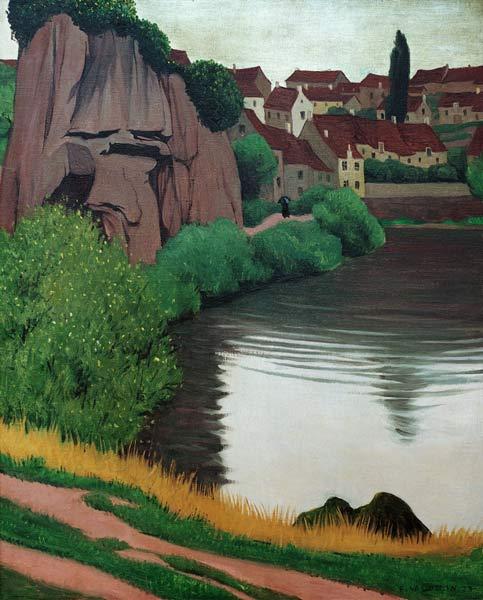 F.Vallotton / Landscape near Semur - Felix Vallotton als ...