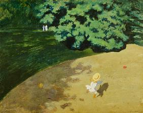 The Balloon or Corner of a Park with a Child Playing with a Balloon 1899