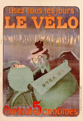 Advertisement for Le Velo, printed by Affiches Camis, Paris c.1899