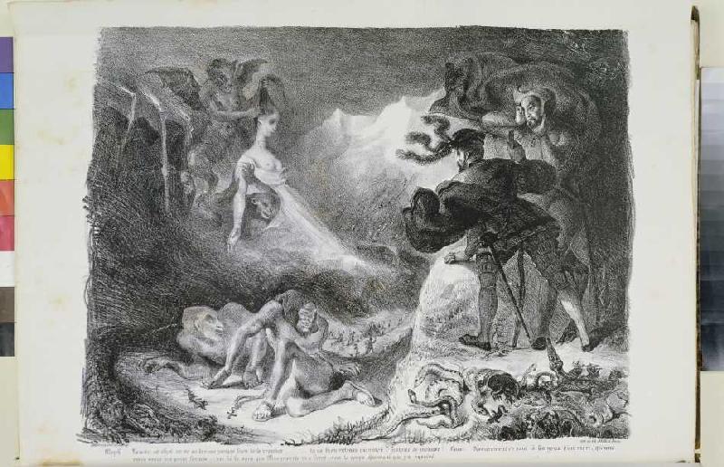 Faust und gretchen walpurgisnacht ferdinand victor eug ne delacr als kunstdruck oder - Faust wandfarbe ...