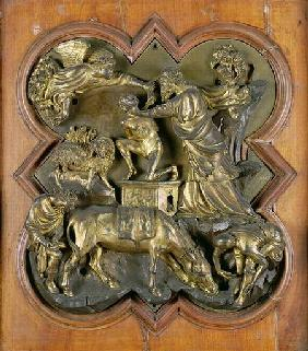 The Sacrifice of Isaac, bronze competition relief for the Baptistry Doors, Florence 1401