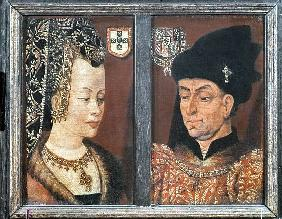 Portrait of Philip The Good, Duke of Burgundy, and his third wife Isabel of Portugal