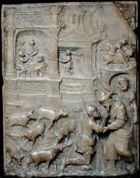 Relief depicting the Return of the Prodigal Son, from Malines