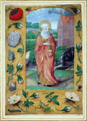 Mary Magdalene, from a Book of Hours, c.1500 (vellum) 16th