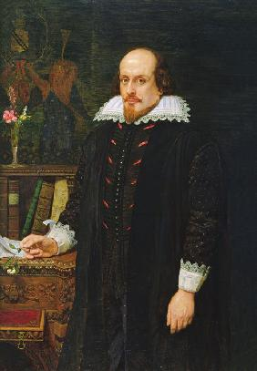 Porträt von William Shakespeare (1564-1616) 1849
