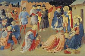 Adoration of the Magi, predella panel from the Linaiuoli Triptych 1433