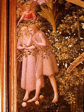 Adam and Eve Expelled from Paradise, detail from the Annunciation c.1430-32