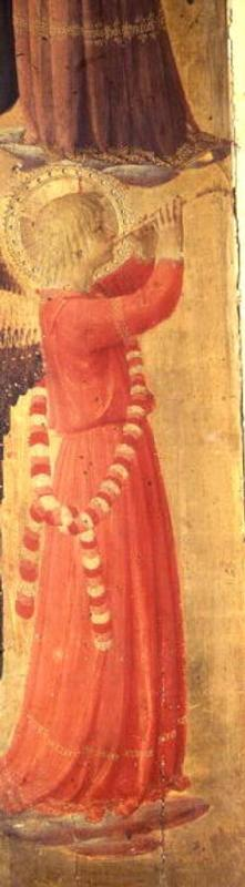 Angel Playing a Pipe, from the Linaiuoli Triptych 1433