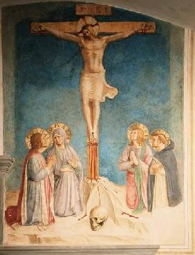 Crucifixion with SS. Cosmas, John and Peter Martyr 1442