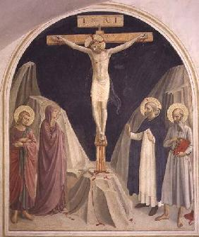 The Crucifixion, with SS. Dominic and Jerome 1442