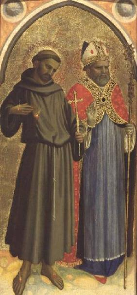 St. Francis and a Bishop Saint (panel)