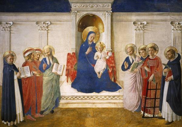 The Madonna delle Ombre, 1450 (fresco) 20th