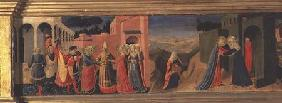 Predella Panel to the Annunciation showing the Marriage of the Virgin and the Visitation