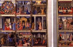 Scenes from the Life of Christ, panels one and two from the Silver Treasury of Santissima Annunziata c.1450-53