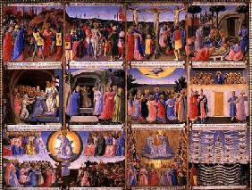 Scenes from the Passion of Christ and the Last Judgement, originally drawers from a cabinet storing c.1450-53