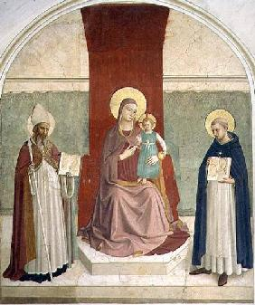 The Virgin and Child Enthroned with SS. Zenobius and Thomas