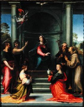 The Annunciation with Saints 1515