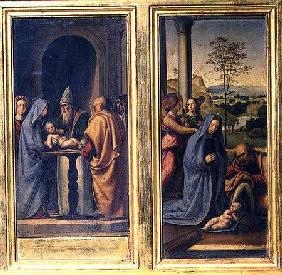 Presentation in the Temple and the Nativity c.1497