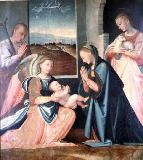 The Holy Family with St. Agnes