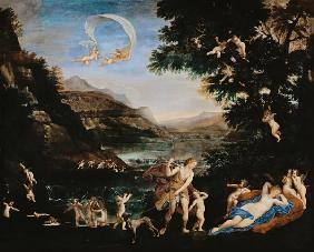 Adonis Led to Venus by Cherubs