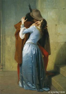 The Kiss von Francesco Hayez als Kunstpostkarte 1859