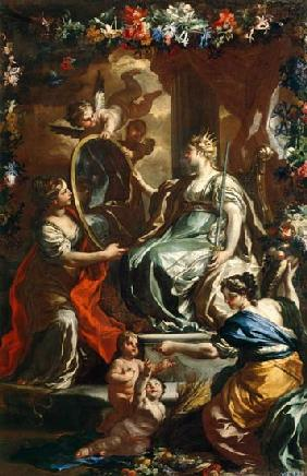 Allegory of a glorious reign 1730
