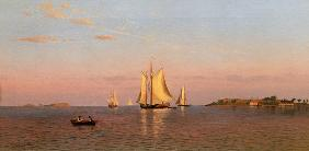 View of Boston Harbour near Castle Island 1872