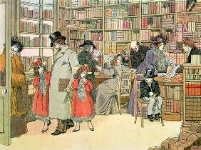 The Book Shop, from 'The Book of Shops', 1899 (colour litho) 1912