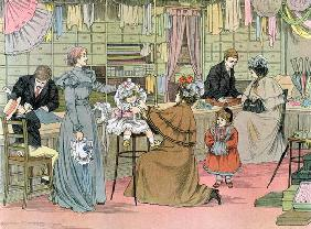 The Haberdasher, from 'The Book of Shops', 1899 (colour litho) 19th