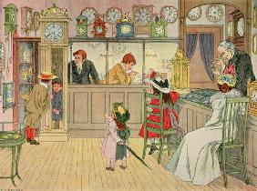 The Jewellery Shop, from 'The Book of Shops', 1899 (colour litho) 12th