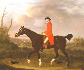 A Gentleman on his Hunter riding to Hounds 1783