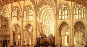 The interior of Toledo Cathedral 1856