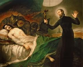 St. Francis Borgia (1510-72) Helping a Dying Impenitent 1795