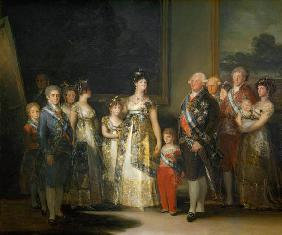 Charles IV (1748-1819) and his family 1800
