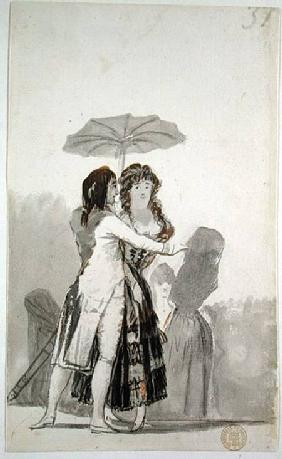 Couple with a Parasol