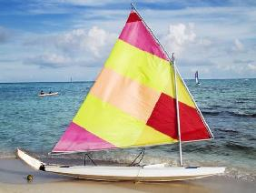 sailing boat on the beach