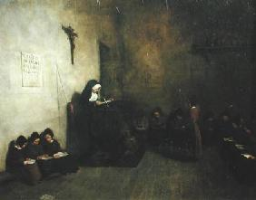 Interior of a School for Orphaned Girls 1850