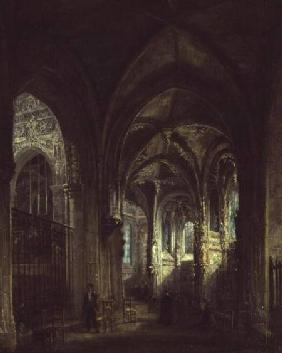 Interior of the Church of St. Pierre, Caen 1861